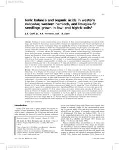 Ionic balance and organic acids in western