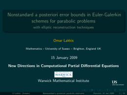 Nonstandard a posteriori error bounds in Euler-Galerkin schemes for parabolic problems