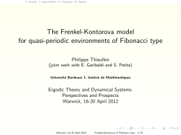 The Frenkel-Kontorova model for quasi-periodic environments of Fibonacci type