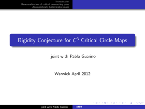Rigidity Conjecture for C Critical Circle Maps joint with Pablo Guarino