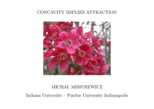 CONCAVITY IMPLIES ATTRACTION MICHA L MISIUREWICZ Indiana University – Purdue University Indianapolis