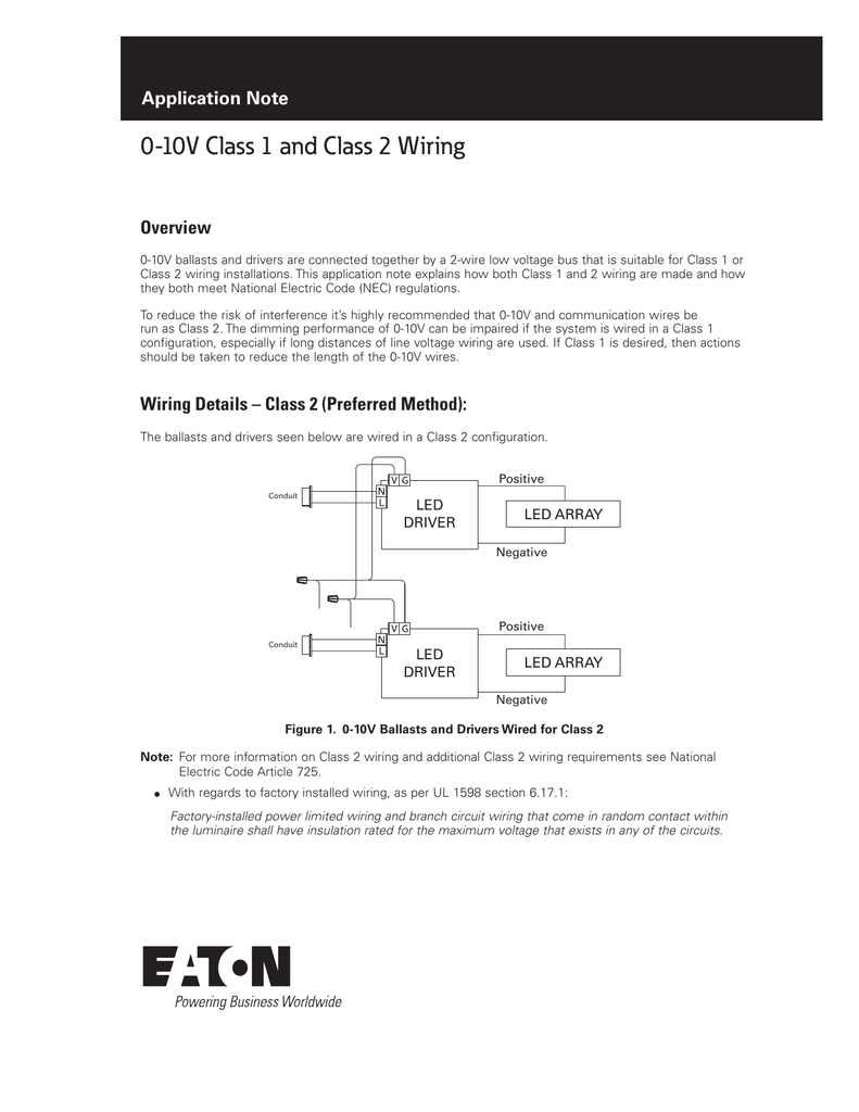 Fine 0 10V Class 1 And Class 2 Wiring Application Note Overview Wiring Cloud Hisonuggs Outletorg