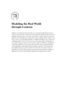 Modeling the Real World through Contexts