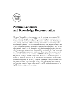 Natural Language and Knowledge Representation