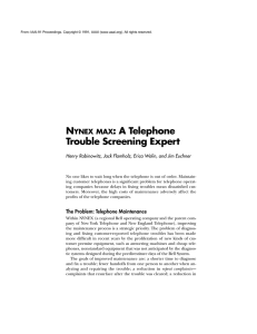 N : A Telephone Trouble Screening Expert YNEX MAX