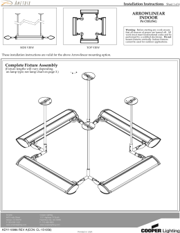 ARROWLINEAR INDOOR Installation Instructions P4 CEILING