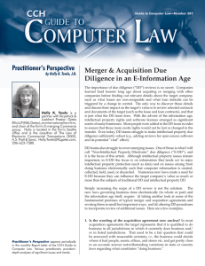 Practitioner's Perspective Merger & Acquisition Due Diligence in an E-Information Age