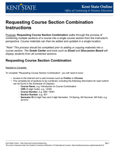 Requesting Course Section Combination Instructions