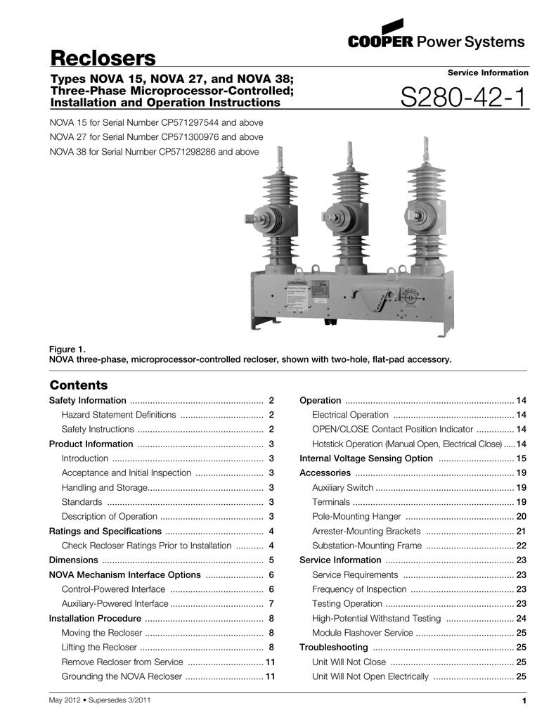 S280 42 1 Reclosers Pole Mounted Controller Wiring Diagram