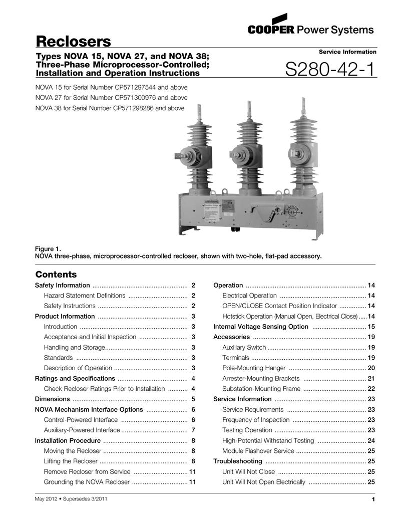 S280 42 1 Reclosers 40a Controlled Recloser Circuit Breaker Remote Control