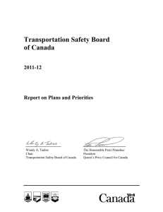 Transportation Safety Board of Canada 2011-12