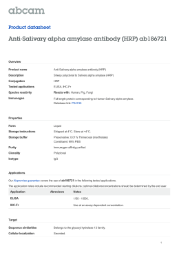 Anti-Salivary alpha amylase antibody (HRP) ab186721