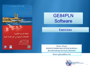 GE84PLN Software Exercises 1