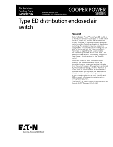 Type ED distribution enclosed air switch COOPER POWER SERIES