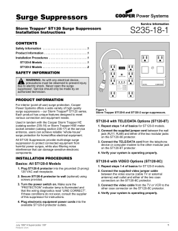 S235-18-1 Surge Suppressors Storm Trapper ST120 Surge Suppressors