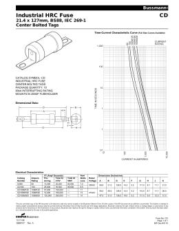 Industrial Hrc Fuse Link Bd 214 X 128mm Bs88 Iec 269 1