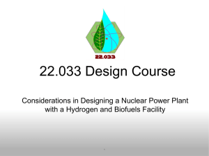 22.033 Design Course Considerations in Designing a Nuclear Power Plant 1