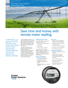 Save time and money with remote meter reading The RFN-430SL is your