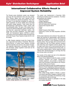 International Collaborative Efforts Result in Improved System Reliability Kyle Distribution Switchgear