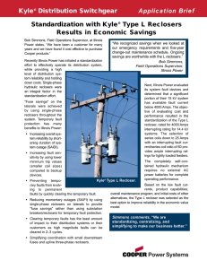 Kyle Distribution Switchgear Application Brief Standardization with Kyle