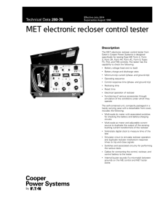 MET electronic recloser control tester 280-76 Description Effective July 2014