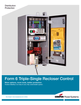 Form 6 Triple-Single Recloser Control Distribution Protection