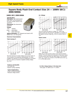 Square Body Flush End Contact Size 24 — 1000V (IEC): 2000-5000A