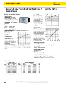 Square Body Flush End Contact Size 4 — 1250V (IEC): 1400-2500A