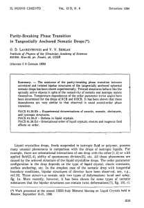 - Parity-Breaking  Phase  Transition IL