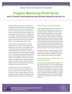 Progress Monitoring Briefs Series National Center on Response to Intervention