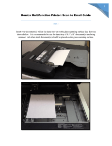 Konica Multifunction Printer: Scan to Email Guide