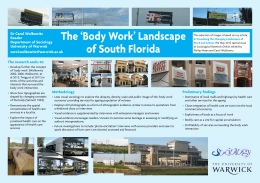 The 'Body Work' Landscape of South Florida Dr Carol Wolkowitz Reader