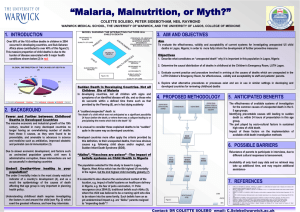 """Malaria, Malnutrition, or Myth?"" 1. INTRODUCTION 3. AIM AND OBJECTIVES"