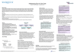 Addressing End of Life Care