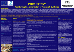 FIRE STUDY Facilitating Implementation of Research Evidence DESIGN Phase 2