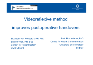 Videoreflexive method improves postoperative handovers