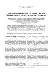 High Resolution Facies Record on Late Holocene Flood Plain