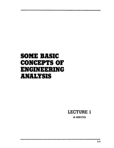 SOME BASIC CONCEPTS OF ENGINEERING ANALYSIS