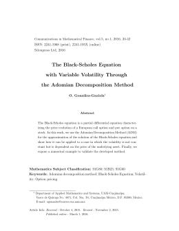 Black scholes replication study
