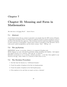 Chapter  II:  Meaning  and  Form ... Mathematics Chapter  7 7.1  Abstract