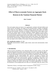 Effect of Macro-economic Factors on Aggregate Stock Abstract