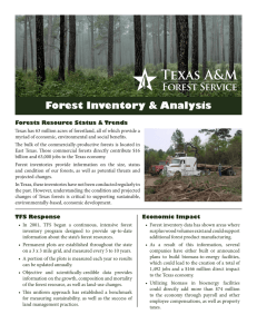Forest Inventory & Analysis Forests Resource Status & Trends