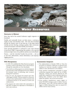 Water Resources Forests & Water