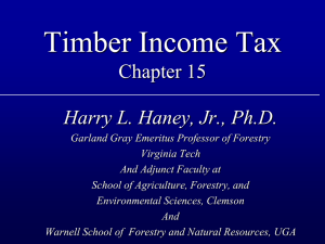 Timber Income Tax Chapter 15 Harry L. Haney, Jr., Ph.D.