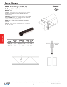 Beam Clamps B3042T - Bar Joist Hanger (TOLCO Fig. 61T)