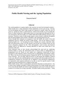 International Journal Of Occupational Health and Public Health Nursing, vol.2,... ISSN: 2053-2369 (print version), 2053-2377 (online)