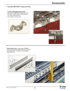 Accessories Heavy Duty GRIP STRUT Grating Accessories