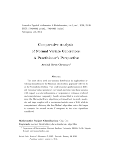 Comparative Analysis of Normal Variate Generators: A Practitioner's Perspective