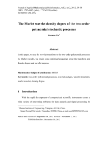 The Marlet wavelet density degree of the two-order polynomial stochastic processes