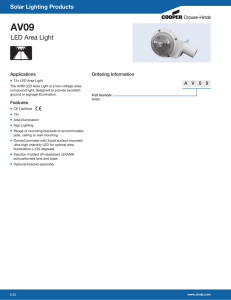 AV09 LED Area Light Solar Lighting Products Applications